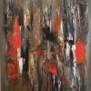 Eternal flame, akrylmålning, blandteknik, 80x100cm